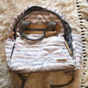 SkipHop striped diaper bag backpack